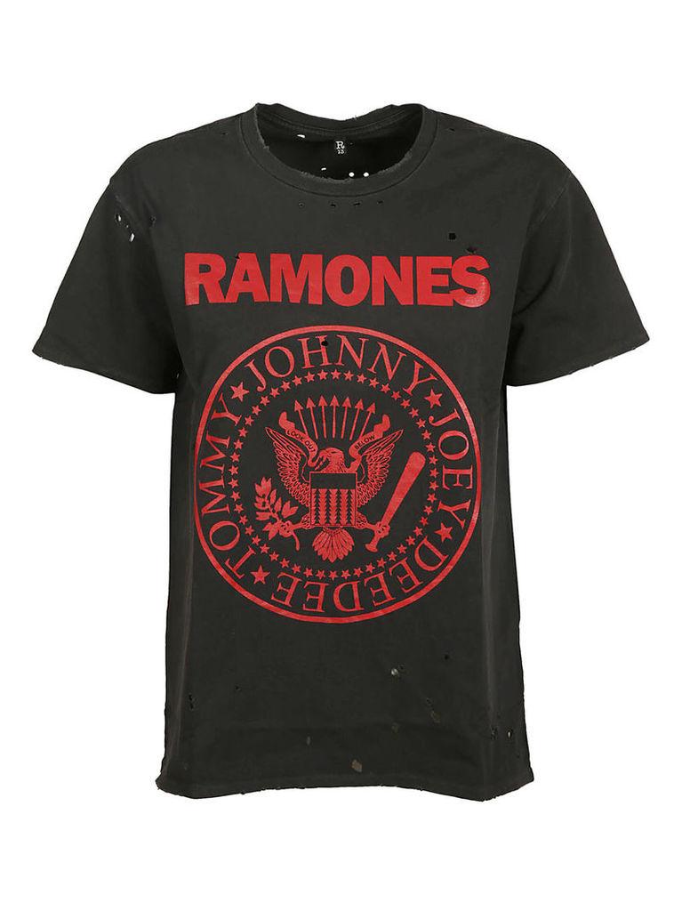 R13 Distressed Ramones T-shirt