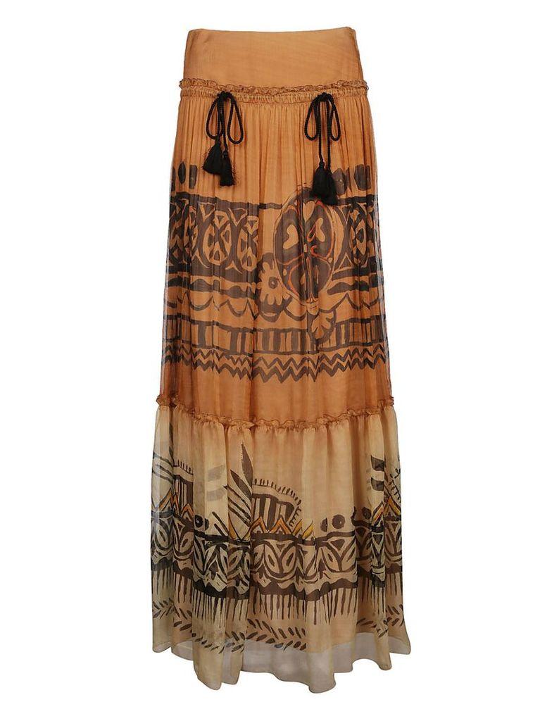Alberta Ferretti Chiffon Skirt
