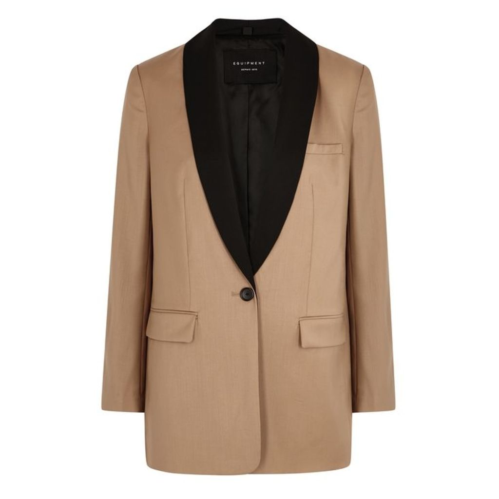 Equipment Quincy Camel Wool Blazer