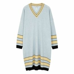 Loewe Blue Wool Jumper Dress