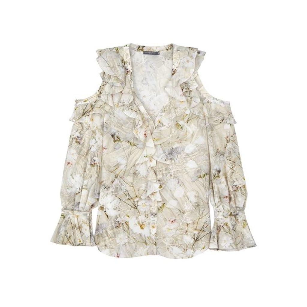 Alexander McQueen Printed Silk Blouse
