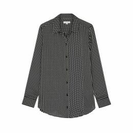 Equipment Monochrome Checked Satin Shirt