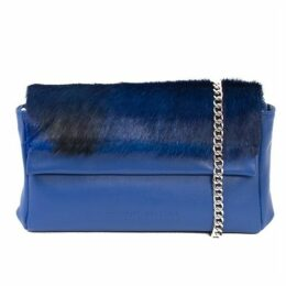 SHERENE MELINDA Royal Sophy Springbok Leather Clutch Bag With A Stripe