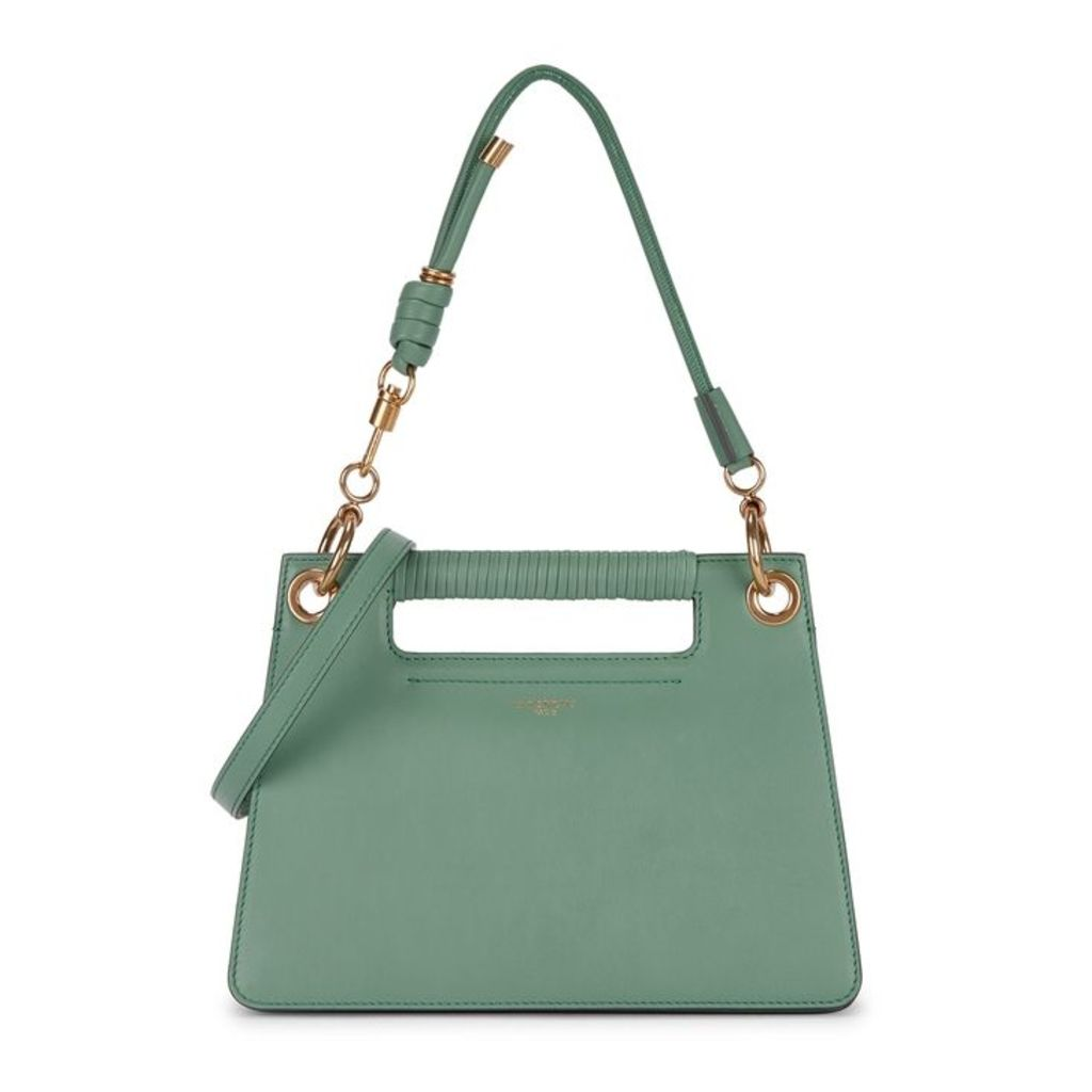 Givenchy Whip Green Leather Top Handle Bag