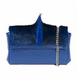 SHERENE MELINDA Royal Sophy Springbok Leather Clutch Bag With A Fan