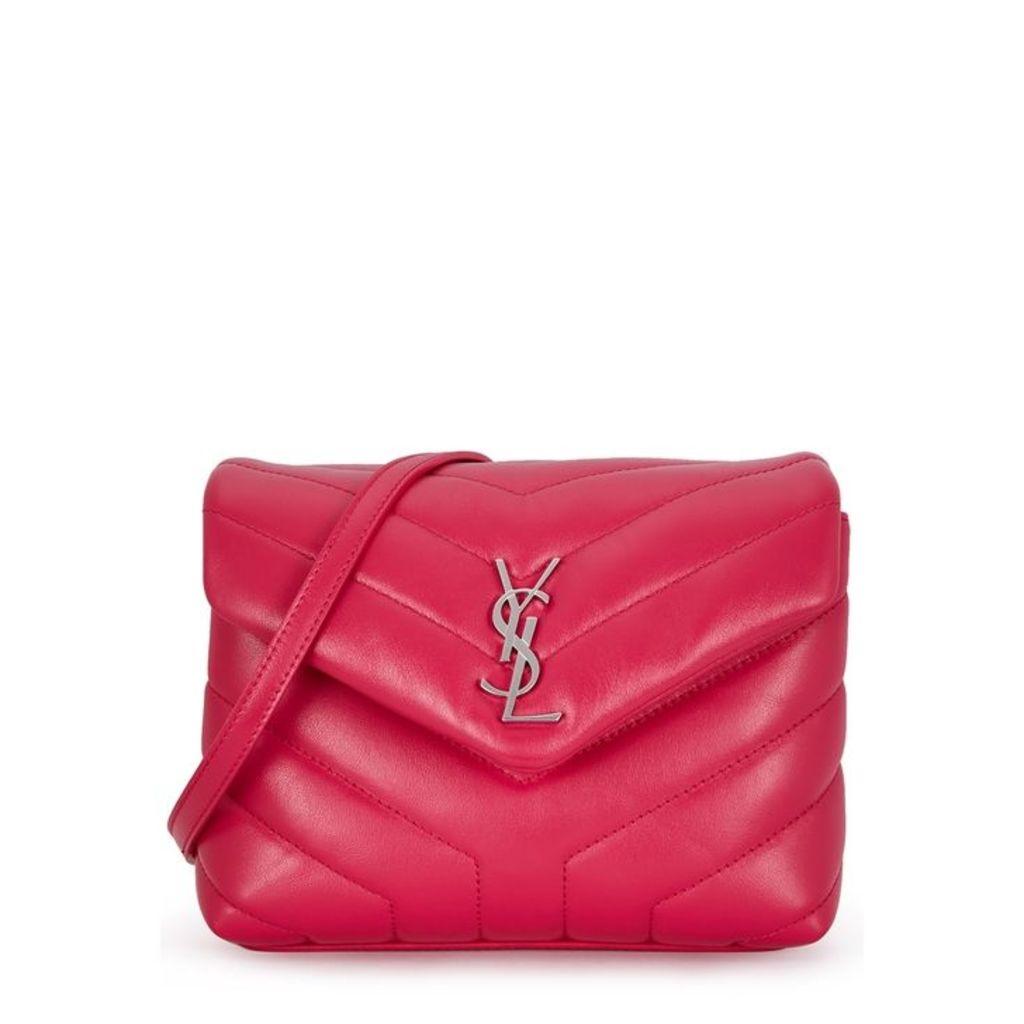 Saint Laurent Loulou Fuchsia Leather Cross-body Bag