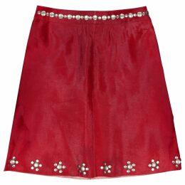 Pony-style calfskin skirt