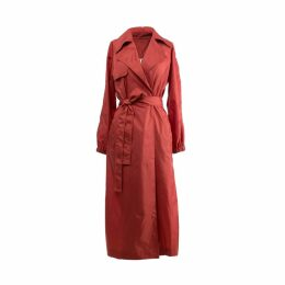 Muse - Coral Color Trench Coat