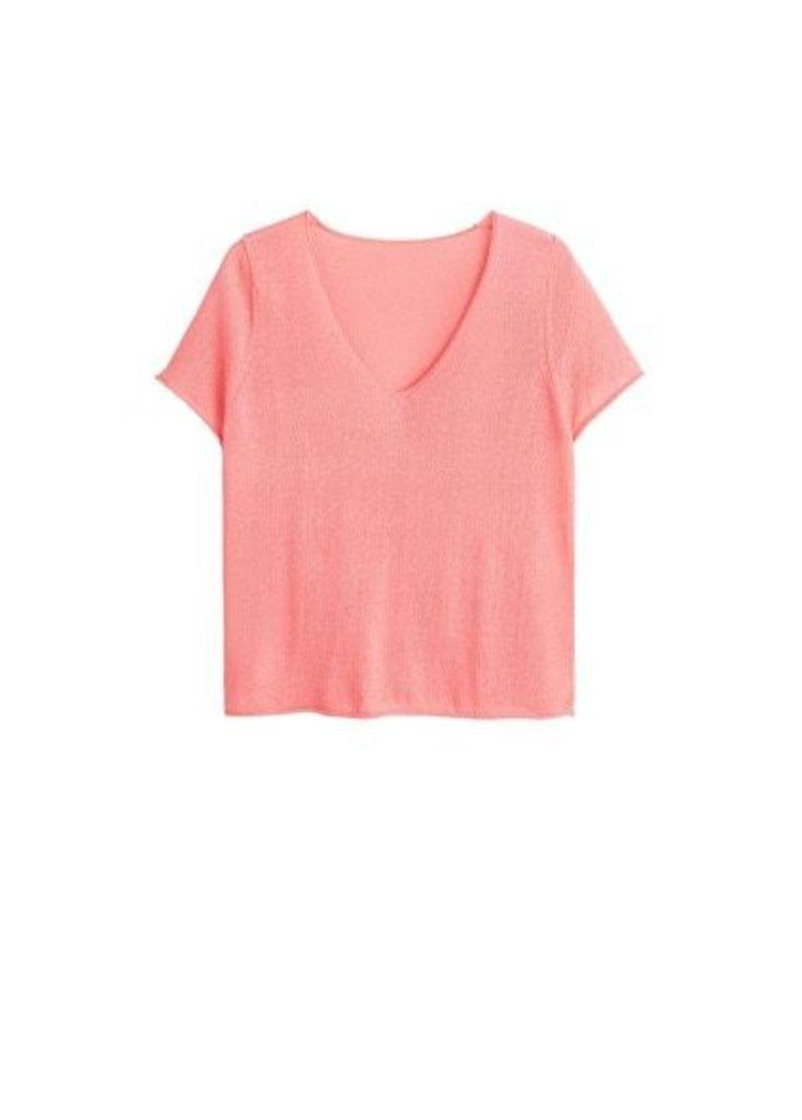 Fine-knit t-shirt