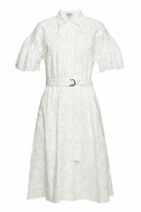 Kenzo Embroidered Cotton Midi Dress