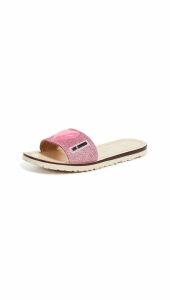 Moschino Flat Logo Sandals