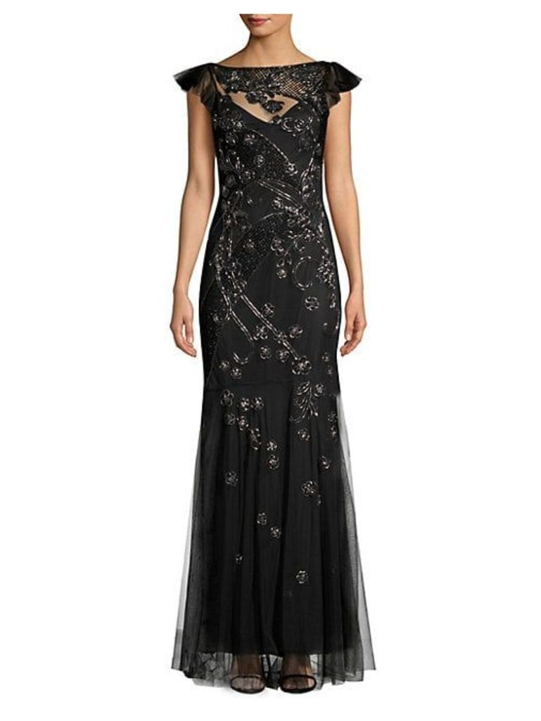 Dollie Sequined Overlay Gown