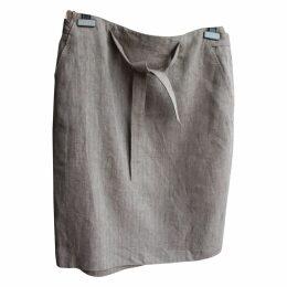 Linen skirt suit