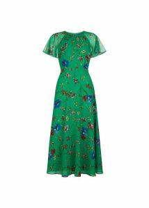 Sarah Dress Green Multi