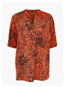 Orange Animal Print Tunic, Orange
