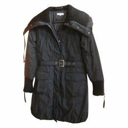 Black Polyester Coat
