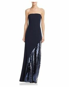 Eliza J Strapless Sequined Gown