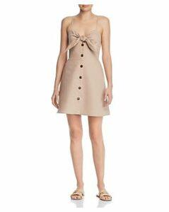 leRumi Haley Button & Tie-Detail Mini Dress