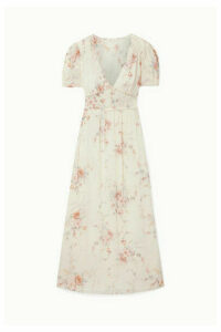LoveShackFancy - Ariel Floral-print Silk-georgette Maxi Dress - Ivory