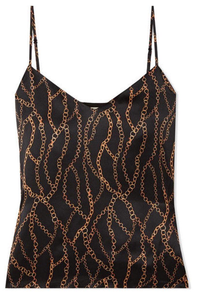 L'Agence - Jane Printed Silk Crepe De Chine Camisole - Black