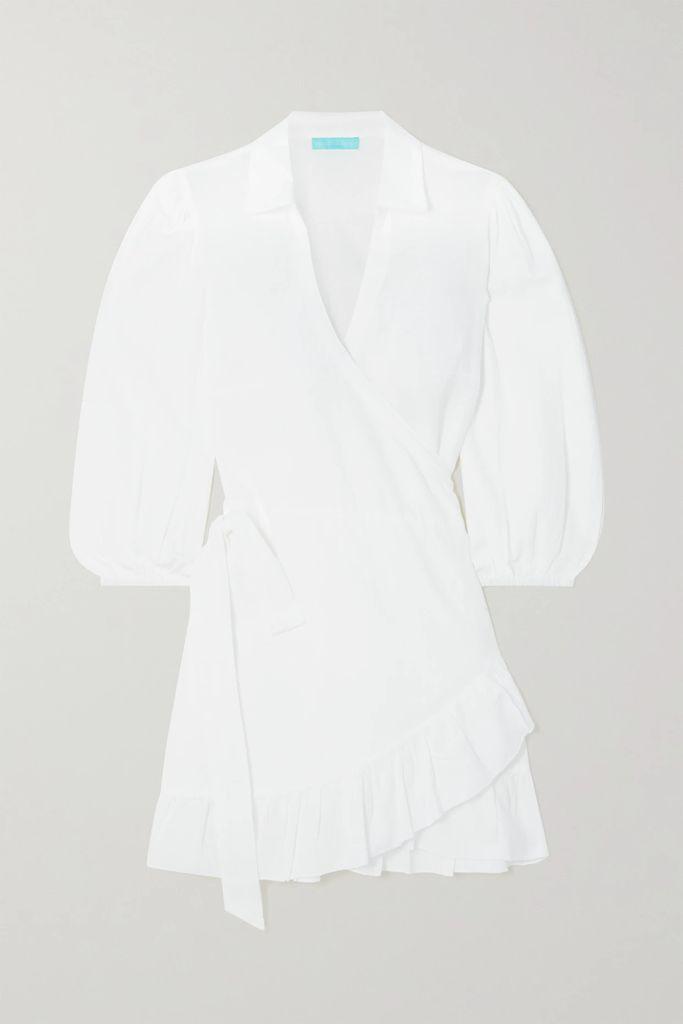 APIECE APART - Lypie Ruffle-trimmed Striped Cotton-gauze Maxi Dress - Blue
