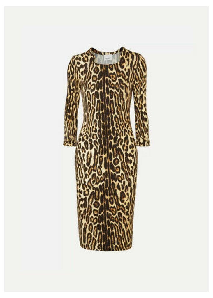 Burberry - Leopard-print Stretch-jersey Dress - Leopard print