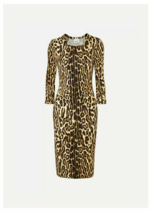 Burberry - Leopard-print Stretch-jersey Dress - Leopard print