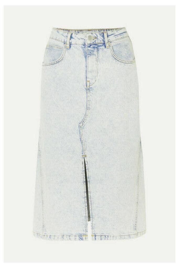 Maje - Denim Midi Skirt - Light denim