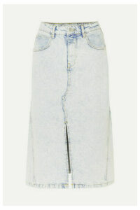 Maje - Denim Midi Skirt - Light denim