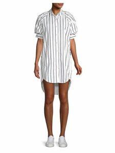 Sephira Puff-Sleeve High-Low Shirtdress