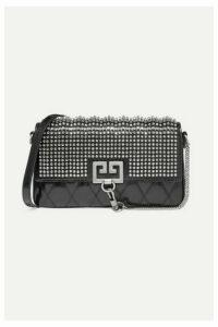 Givenchy - Charm Crystal-embellished Quilted Leather Shoulder Bag - Black