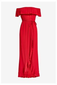 Womens River Island Bardot Maxi Dress -  Red