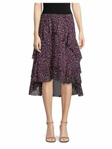 Brigida High-Low Ruffle Skirt
