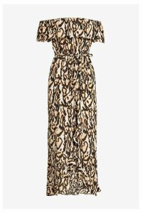 Womens River Island Bardot Maxi Dress -  Animal