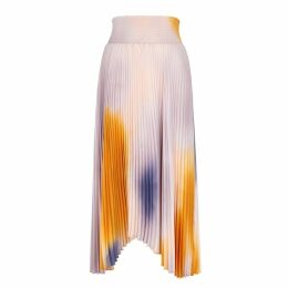 A.L.C. Sonali Printed Pleated Midi Skirt