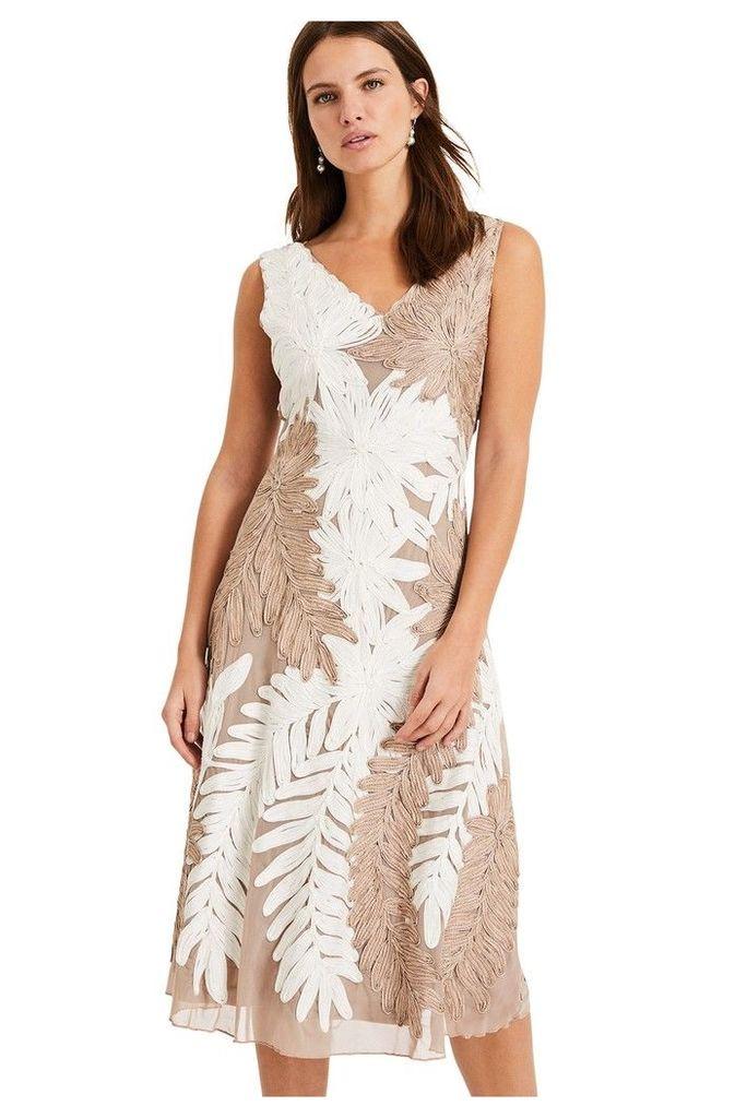 Womens Phase Eight White Denise Tapework Dress -  White