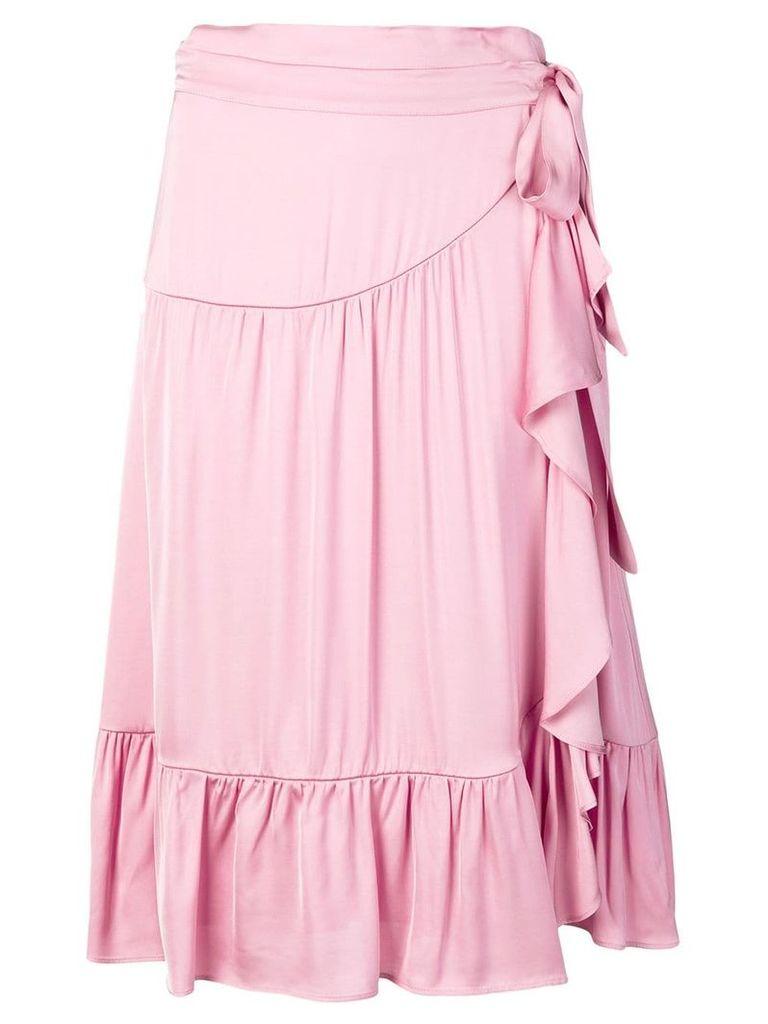 Semicouture layered midi skirt - Pink