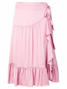Semicouture layered midi skirt - Pink