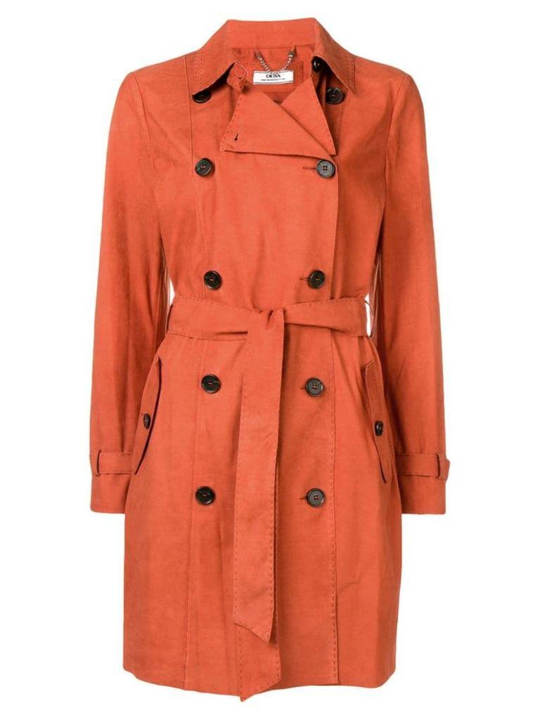 Desa 1972 suede trench coat - Orange