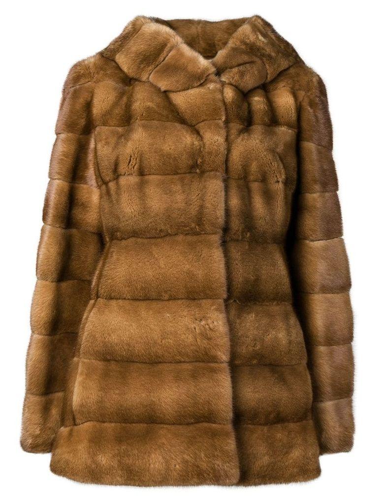 Liska Valencia short fur coat - Brown