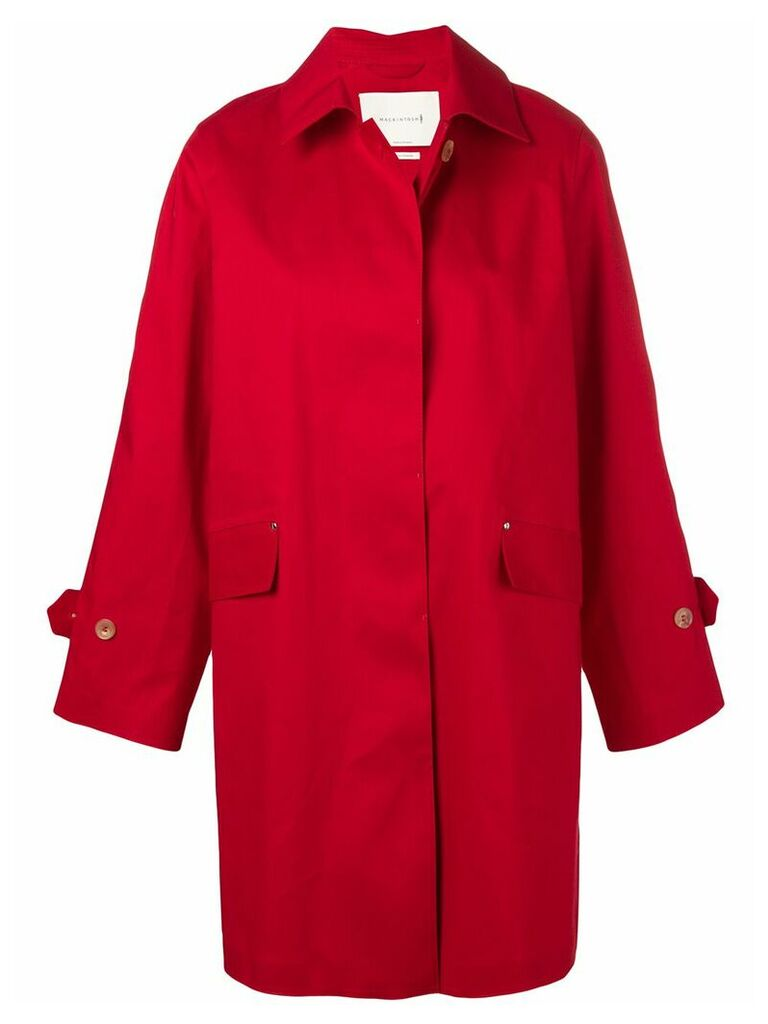 Mackintosh single-breasted trench - Red