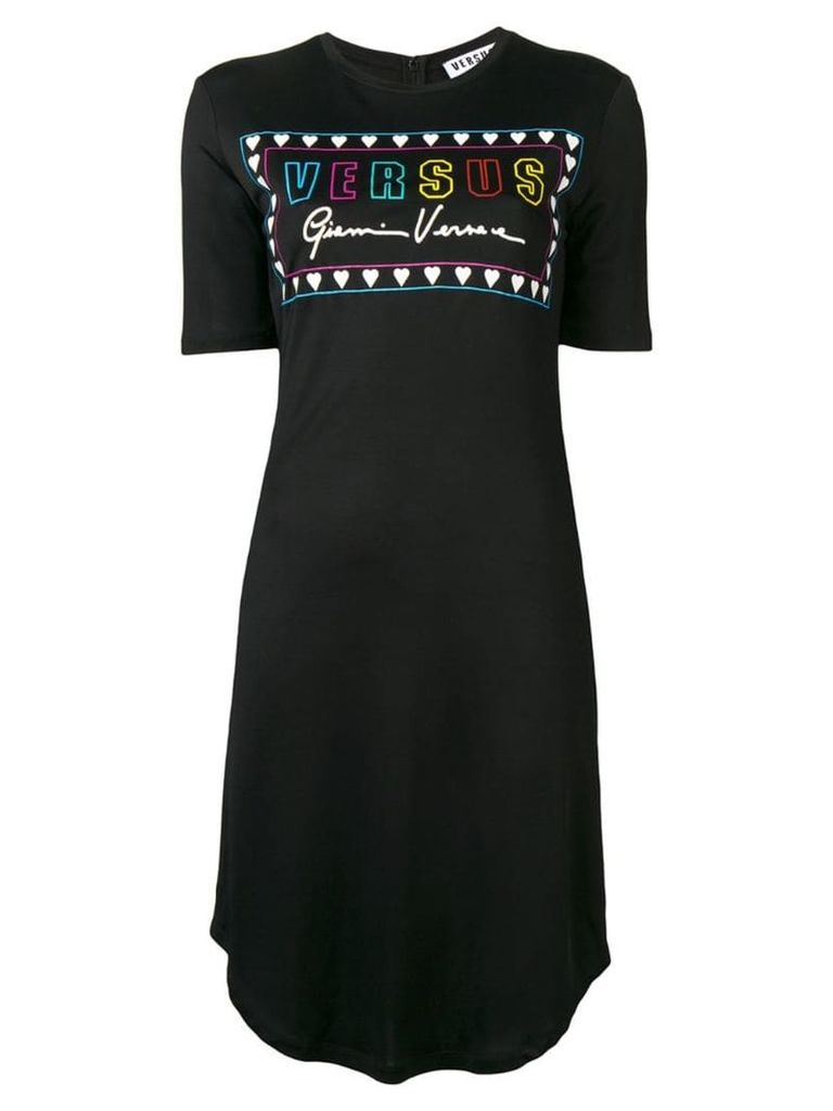 Versus logo print dress - Black