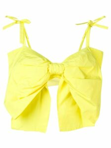MSGM bow detail top - Yellow