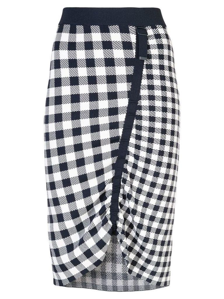 Jonathan Simkhai gingham midi skirt - Black
