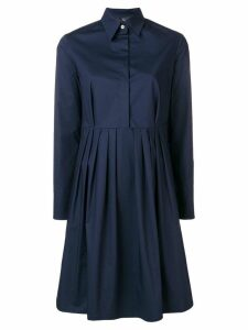 Fay pleat detail dress - Blue