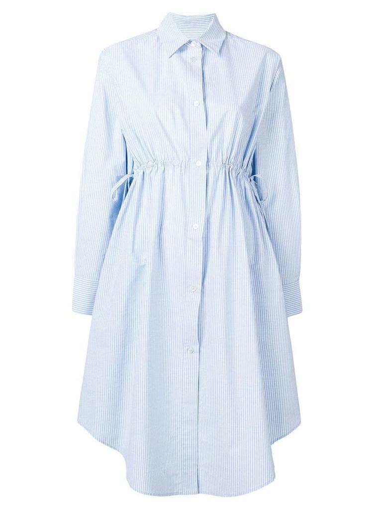 Mm6 Maison Margiela drawstring waist shirt dress - Blue