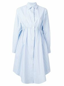 Mm6 Maison Margiela drawstring waist shirt dress - Blue