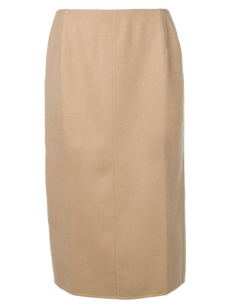 Agnona cashmere pencil skirt - Brown