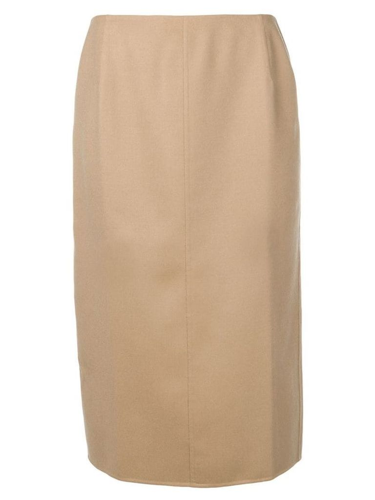 Agnona cashmere pencil skirt - Brown