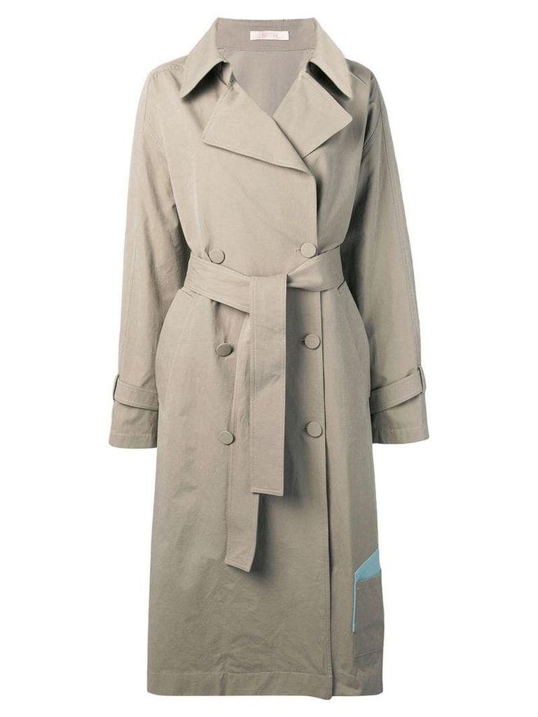 Ssheena long trench coat - Neutrals